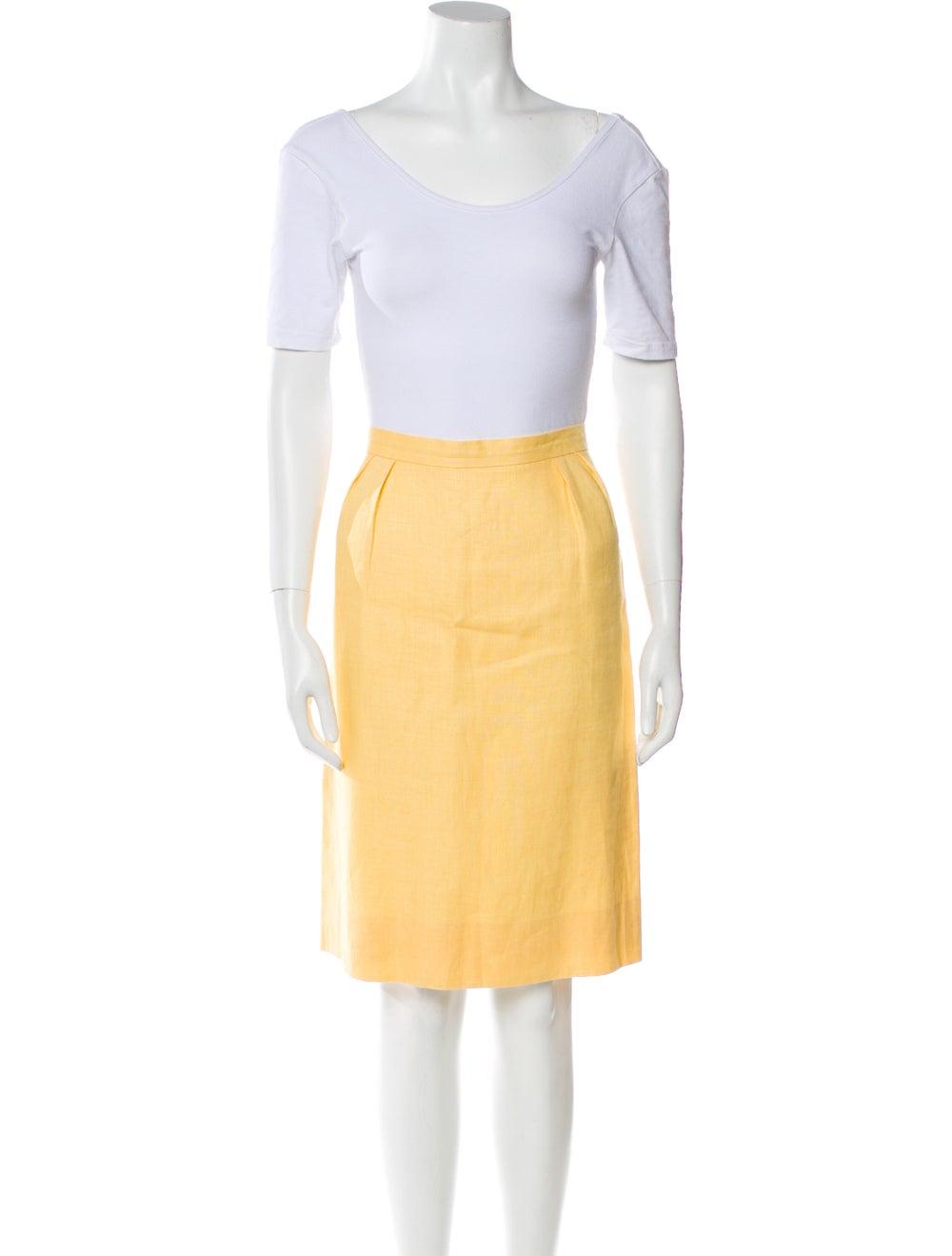 Celine Vintage Linen Skirt Suit Yellow - image 4