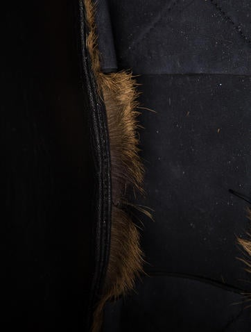 Vertical Fur Cabas Tote