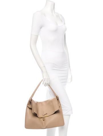 Large Clasp Shoulder Bag