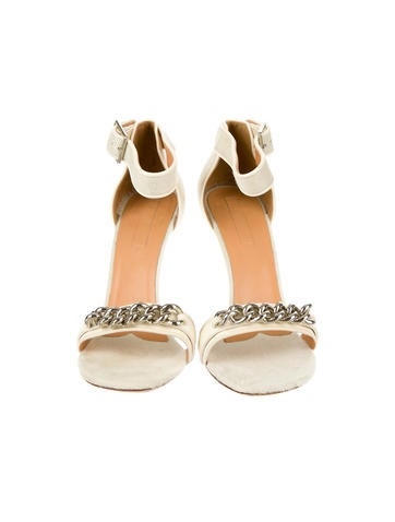 Embellished Ponyhair Sandals