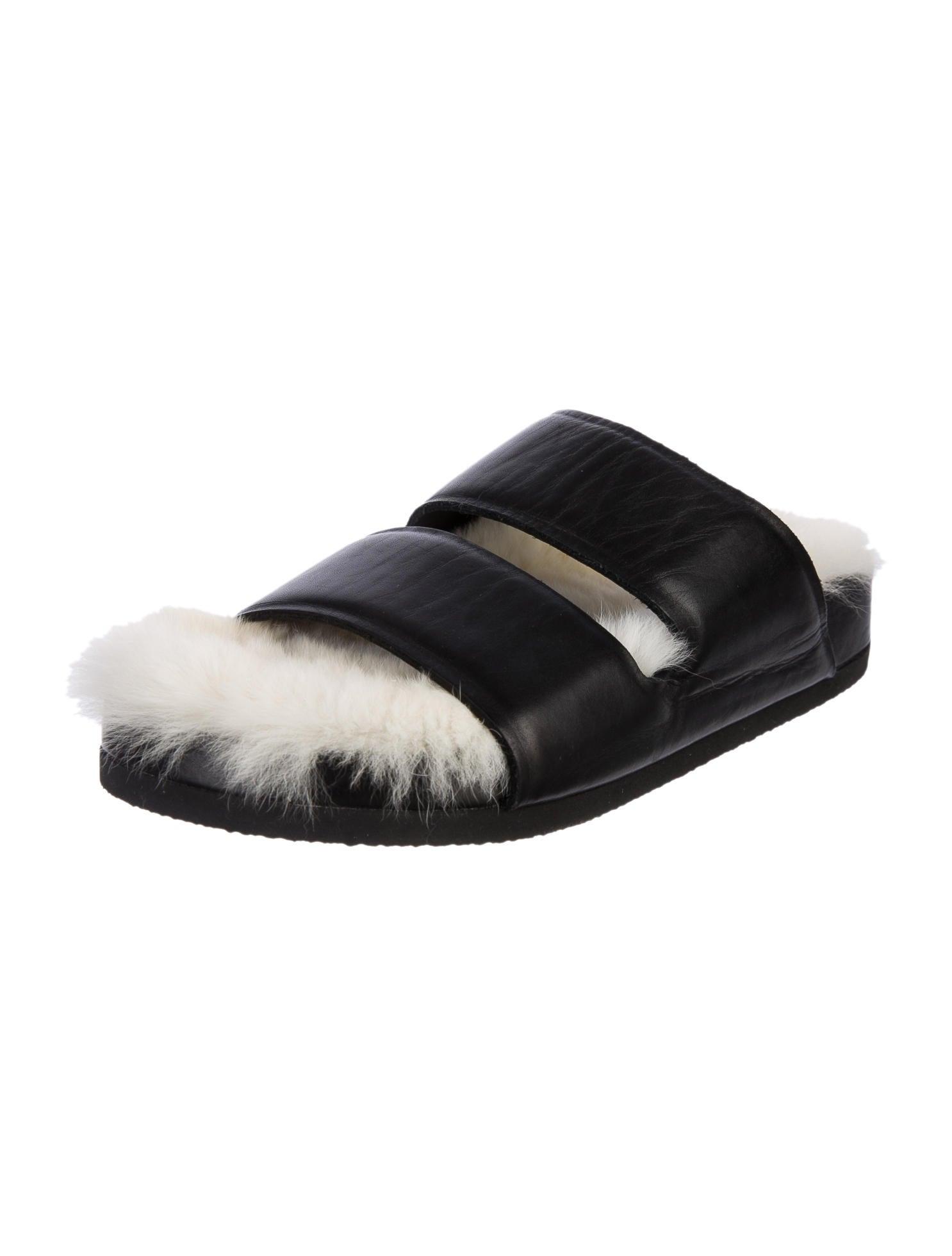 Celine Céline Fur Lined Sandals - Shoes