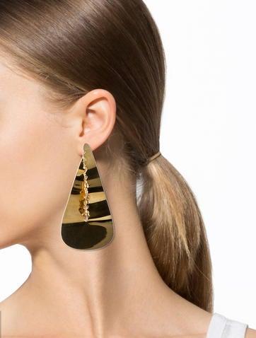 Devoured Brass Earrings