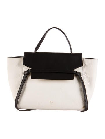 c518e8230a Celine Mini Belt Bag White. CELINE Elephant Calfskin ...