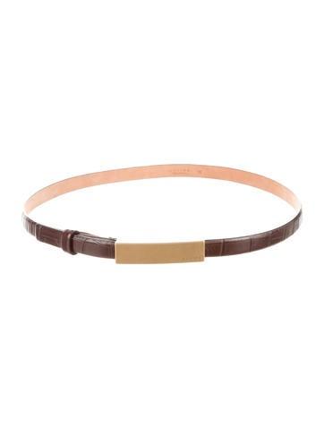 Embossed Skinny Belt