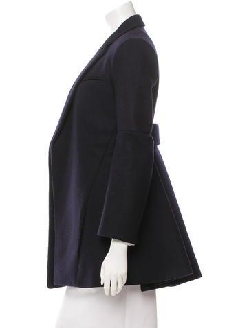Wool Pleated Coat