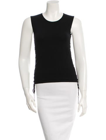 Céline Sleeveless Wool Top None