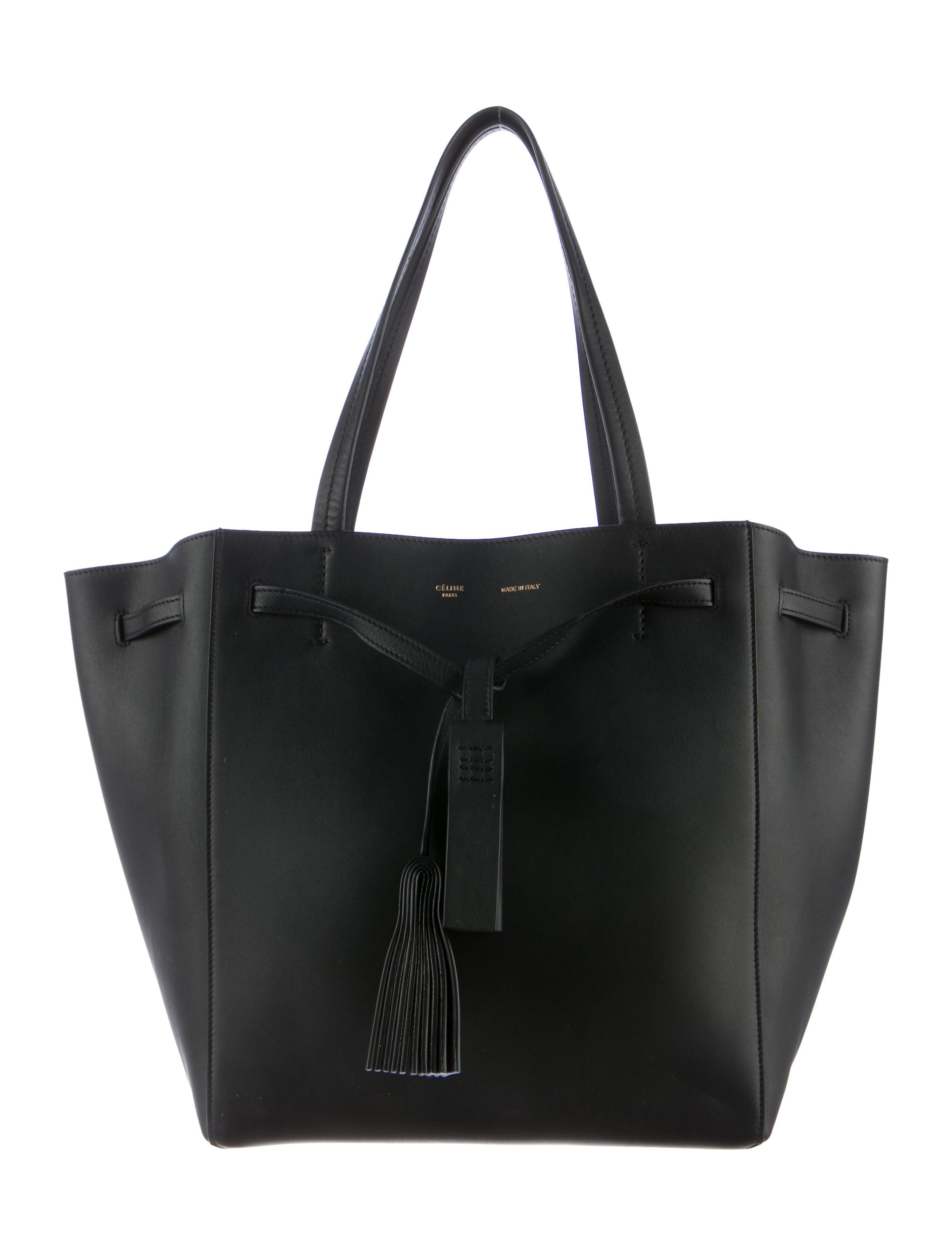 762f35ea236f Celine Céline Medium Tassel Phantom Cabas Tote - Handbags - CEL35574 ...