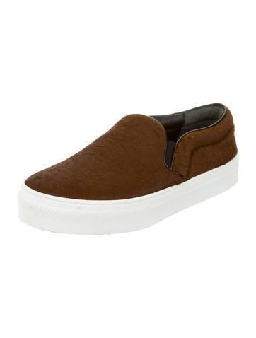 Ponyhair Slip-On Sneakers