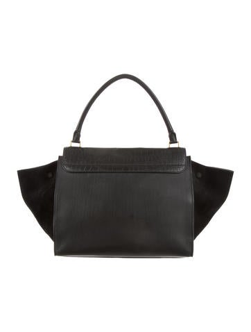 Large Embossed Trapeze Bag