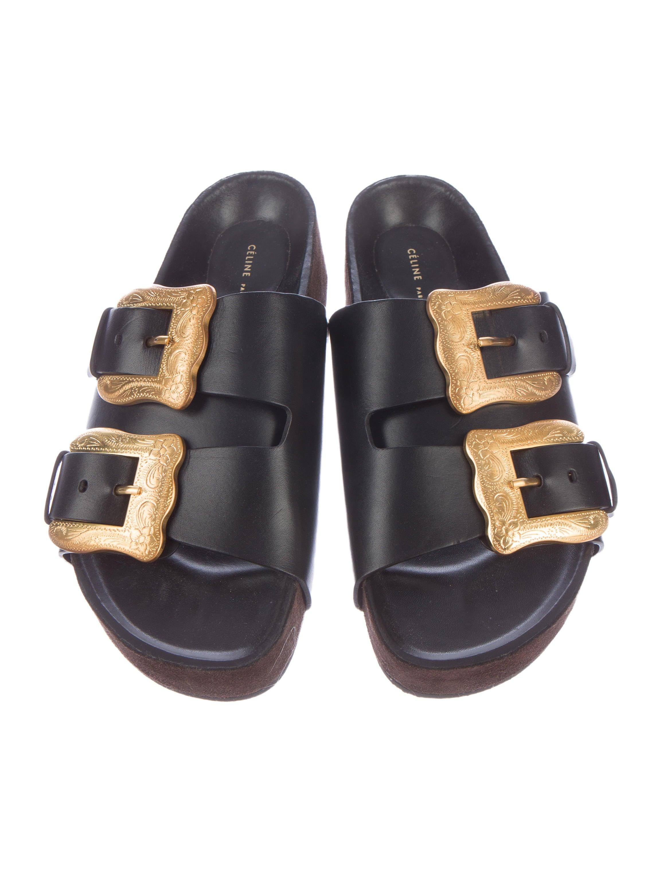 fake online Céline Buckle Accented Denim Sandals free shipping authentic cheap sale authentic cheap sale classic 7RQ30