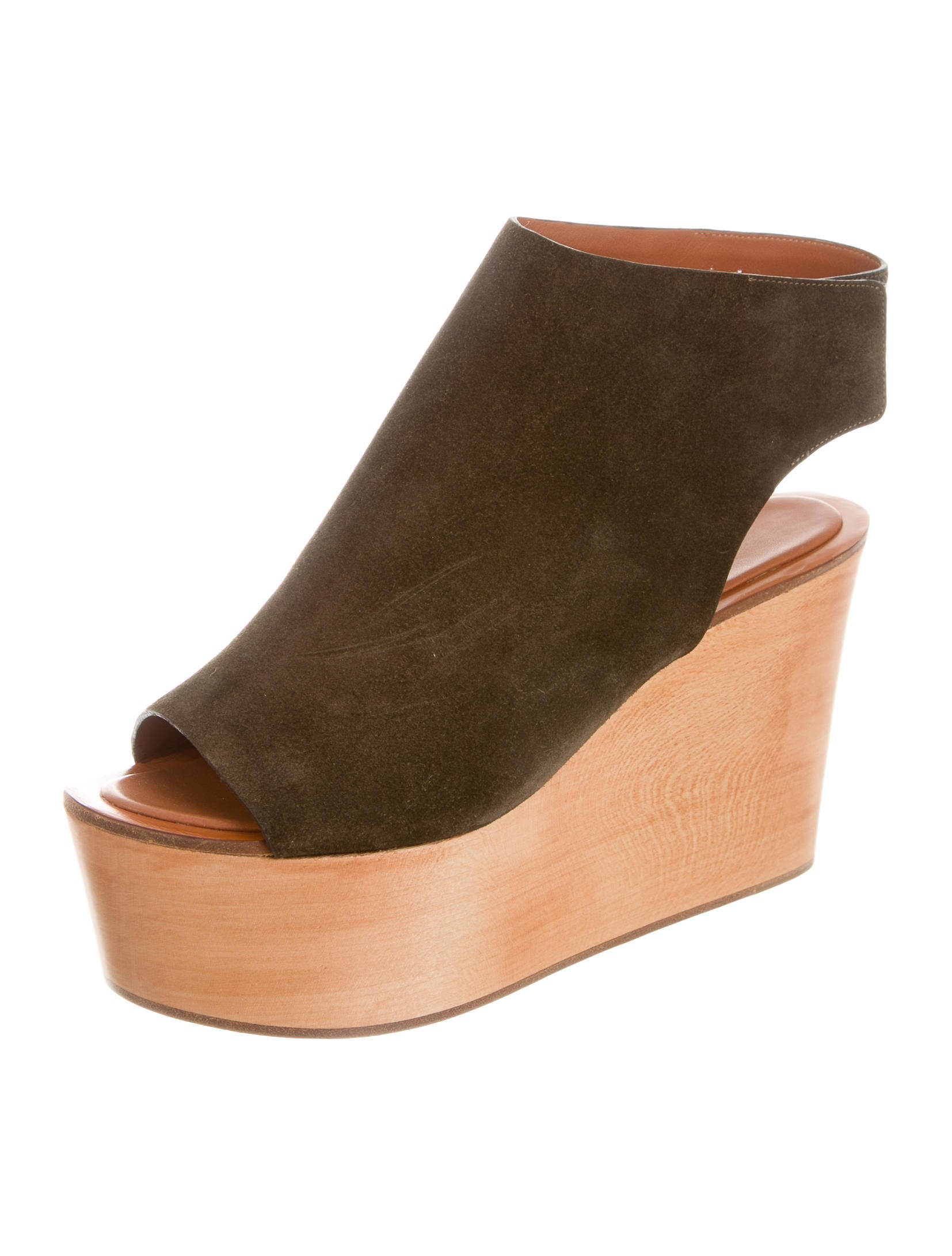 Céline Suede Wedge Sandals - Shoes - CEL38712 | The RealReal