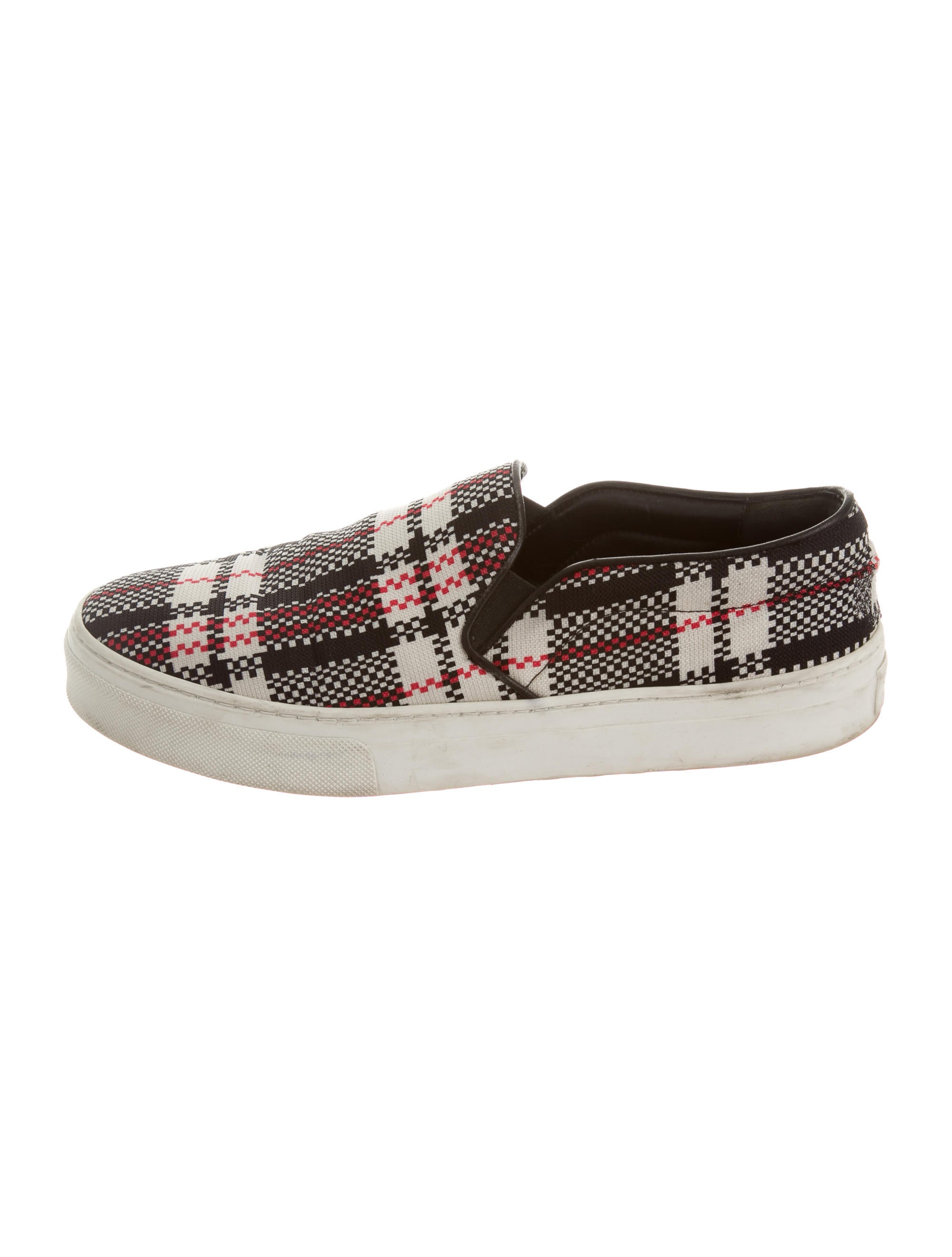 c 233 line plaid slip on sneakers shoes cel39658 the