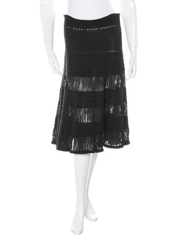 Céline Open-Knit A-Line Skirt None