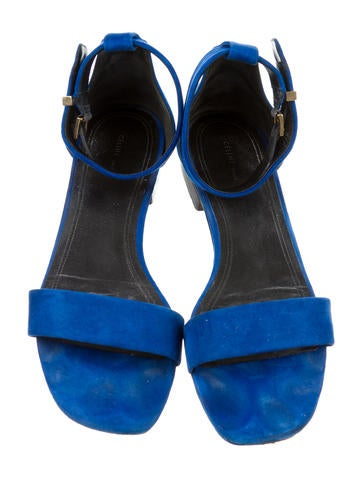 Suede Ankle Strap Sandals