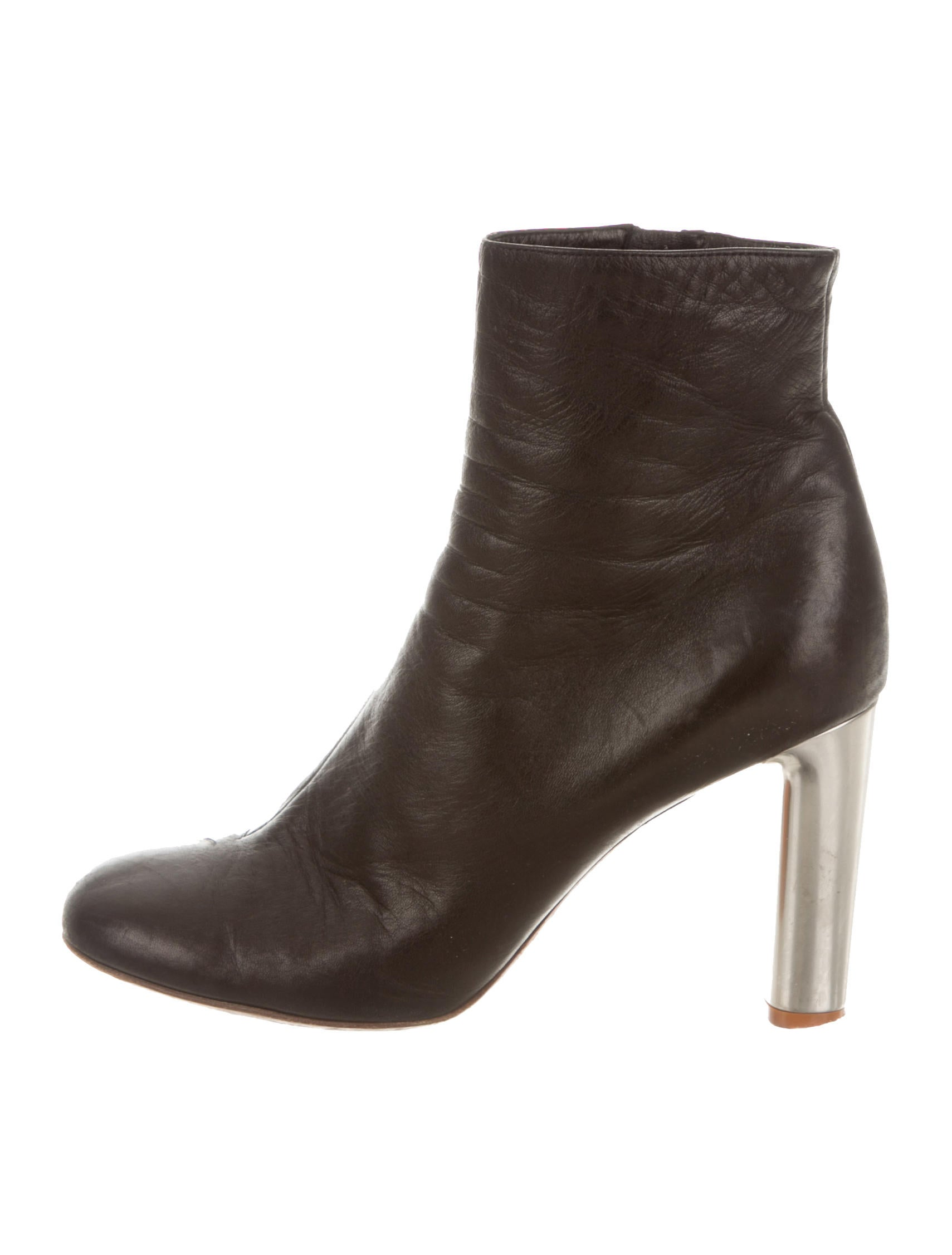 c 233 line leather square toe ankle boots shoes cel40603