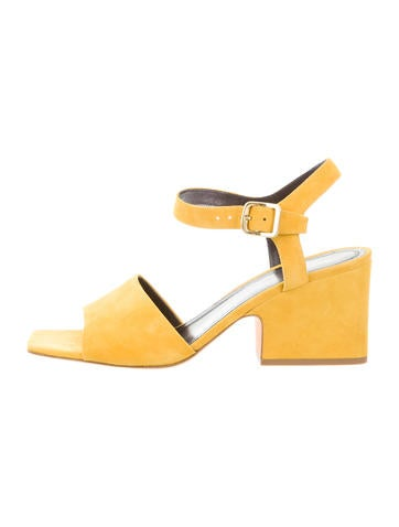 Suede Ankle Strap Sandals w/ Tags