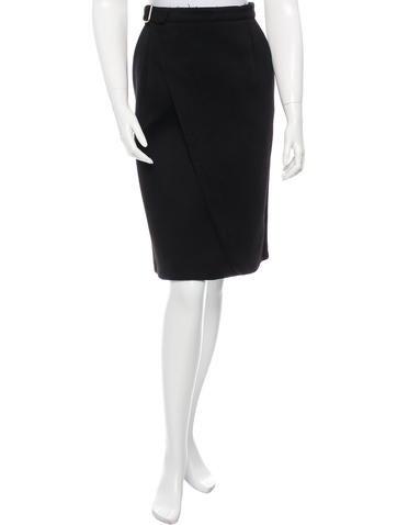 Céline Wool & Cashmere-Blend Skirt None