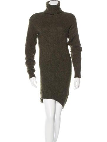 Céline Cashmere Turtleneck Dress None