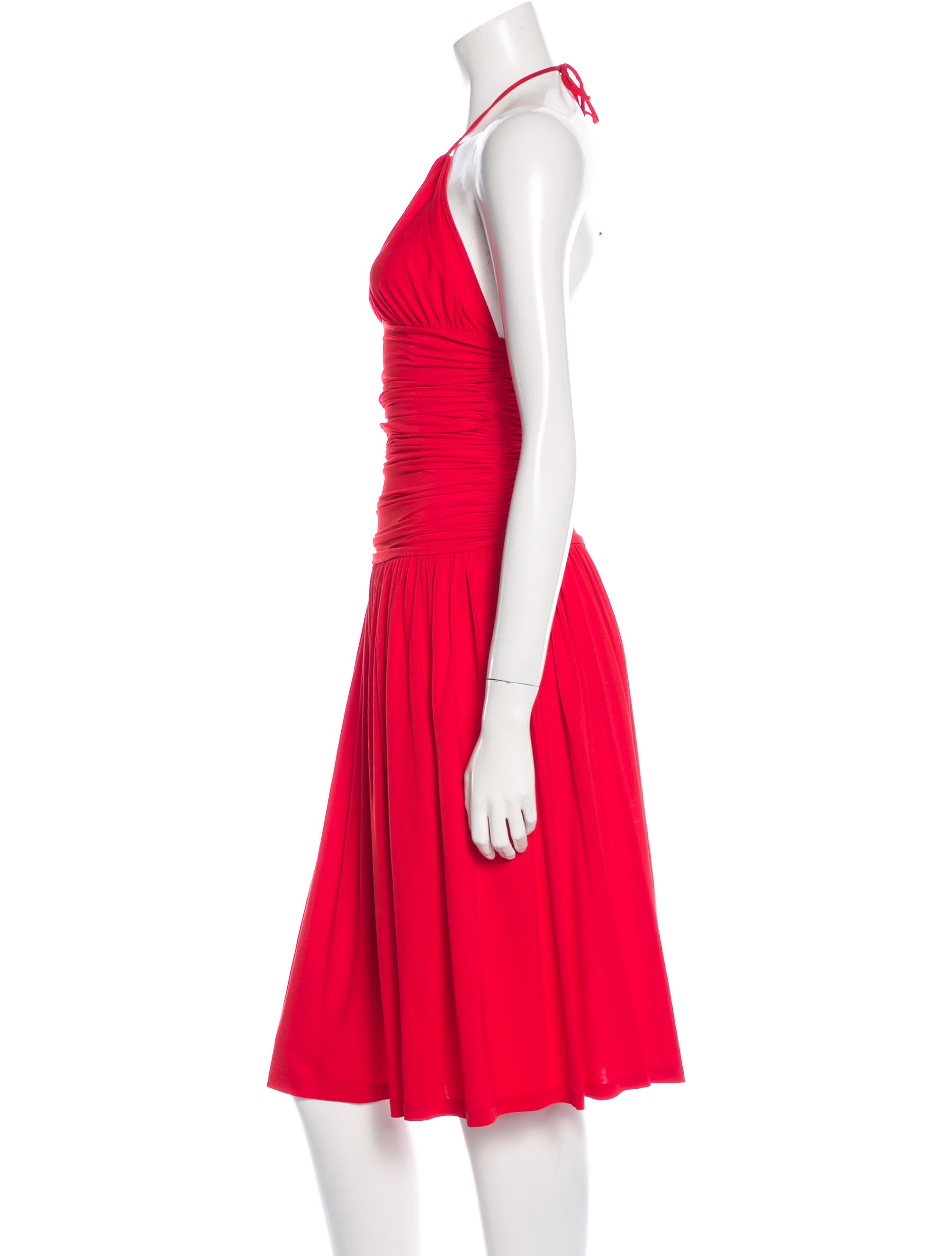 Céline Draped Halter Dress - Clothing - CEL41401 | The ...