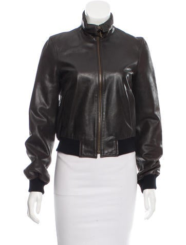 Céline Leather Bomber Jacket - Clothing - CEL41705   The RealReal