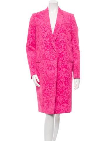 Céline Velvet-Trimmed Coat None