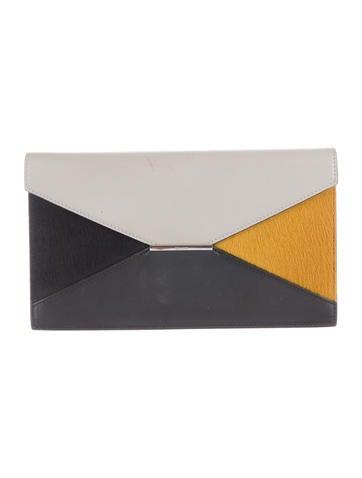 Ponyhair & Leather Diamond Wallet