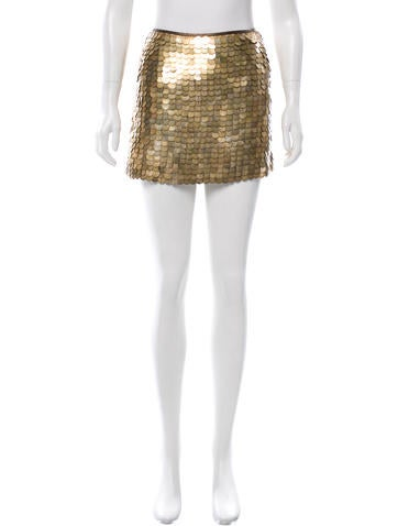 Céline Embellished Mini Skirt None