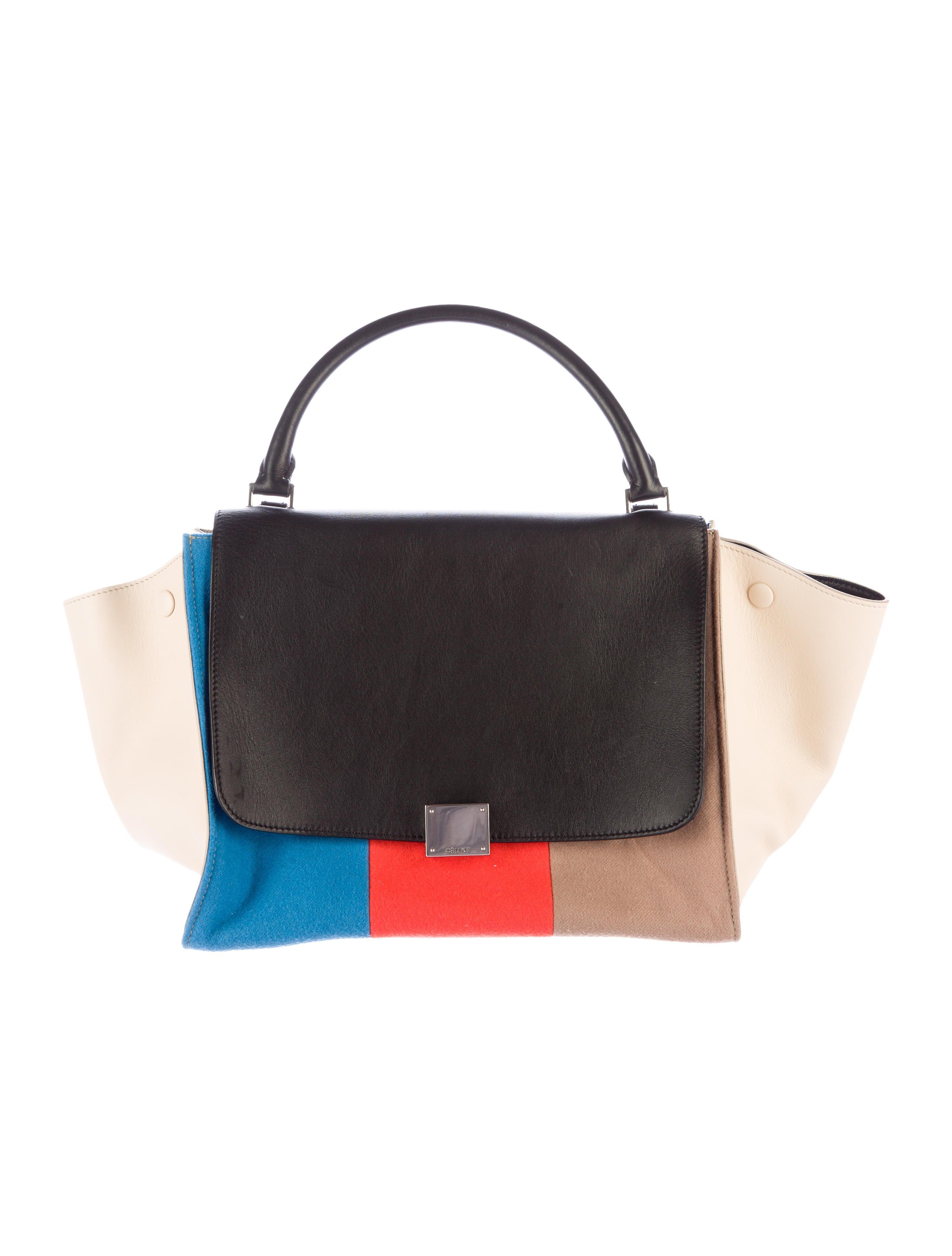 8b1daae3a0f4 Céline Colorblock Medium Trapeze Bag - Handbags - CEL42058