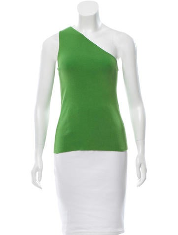 Céline Sleeveless One-Shoulder Top None