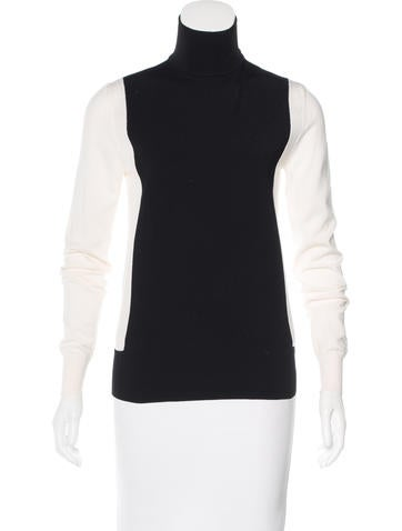 Céline Wool-Blend Colorblock Sweater None