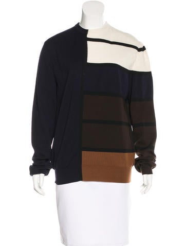 Céline Wool Colorblock Sweater None