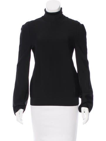 Céline Stretch Knit Long Sleeve Top None