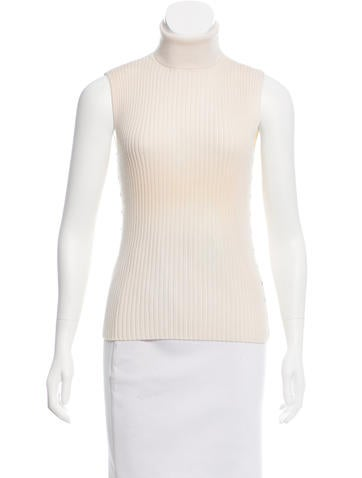 Céline Wool Sleeveless Top None