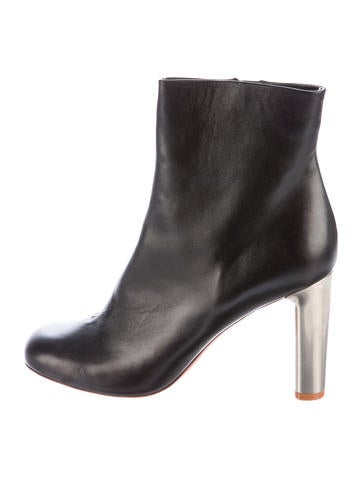 Céline Leather Ankle Boots