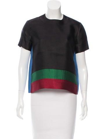 Céline Colorblock Short Sleeve Top