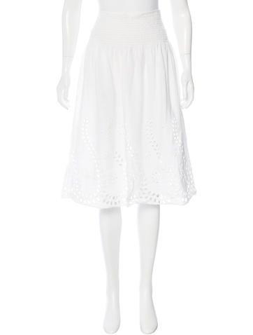Céline Linen A-Line Skirt