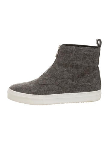 Wool High-Top Sneakers