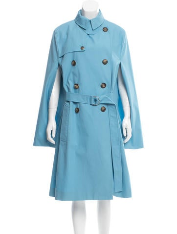 Céline Double-Breasted Trench Poncho!
