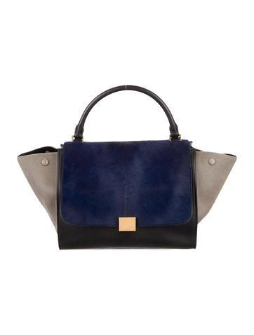 7e9a9f7f7b5d Céline Ponyhair Medium Trapeze Bag - Handbags - CEL44097