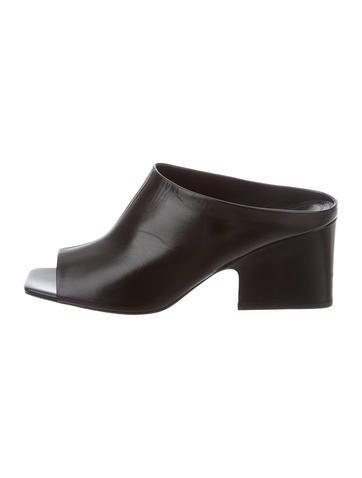 Céline Leather Slide Sandals