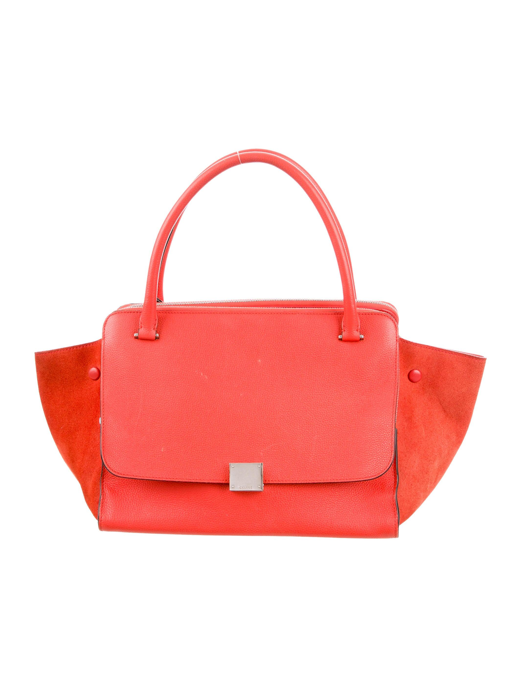 83bf2ab13670 Celine Céline Double Zipper Trapeze Bag - Handbags - CEL44453