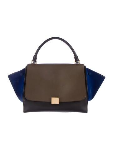 0714bdd608 Therealreal · Céline Tricolor Medium Trapeze Bag