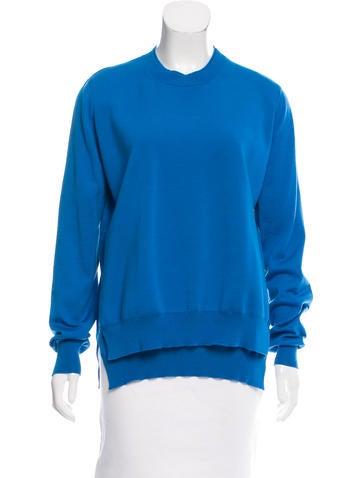 Céline Textured Wool & Cashmere Sweater None
