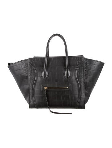 celine stingray box bag u4jv  Product Name:C茅line Embossed Medium Phantom Tote