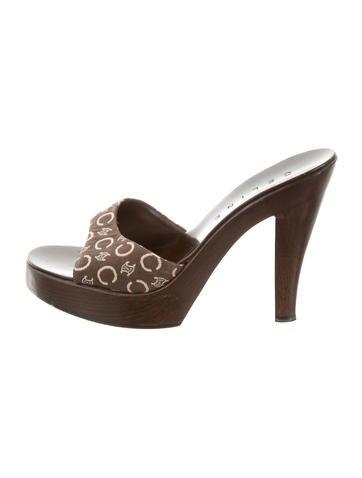 Céline Logo Slide Sandals