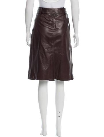 Leather Knee-Length Skirt