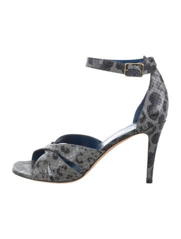 cheap prices authentic under 50 dollars Céline Snakeskin Crossover Sandals clearance explore 2tNLbtW