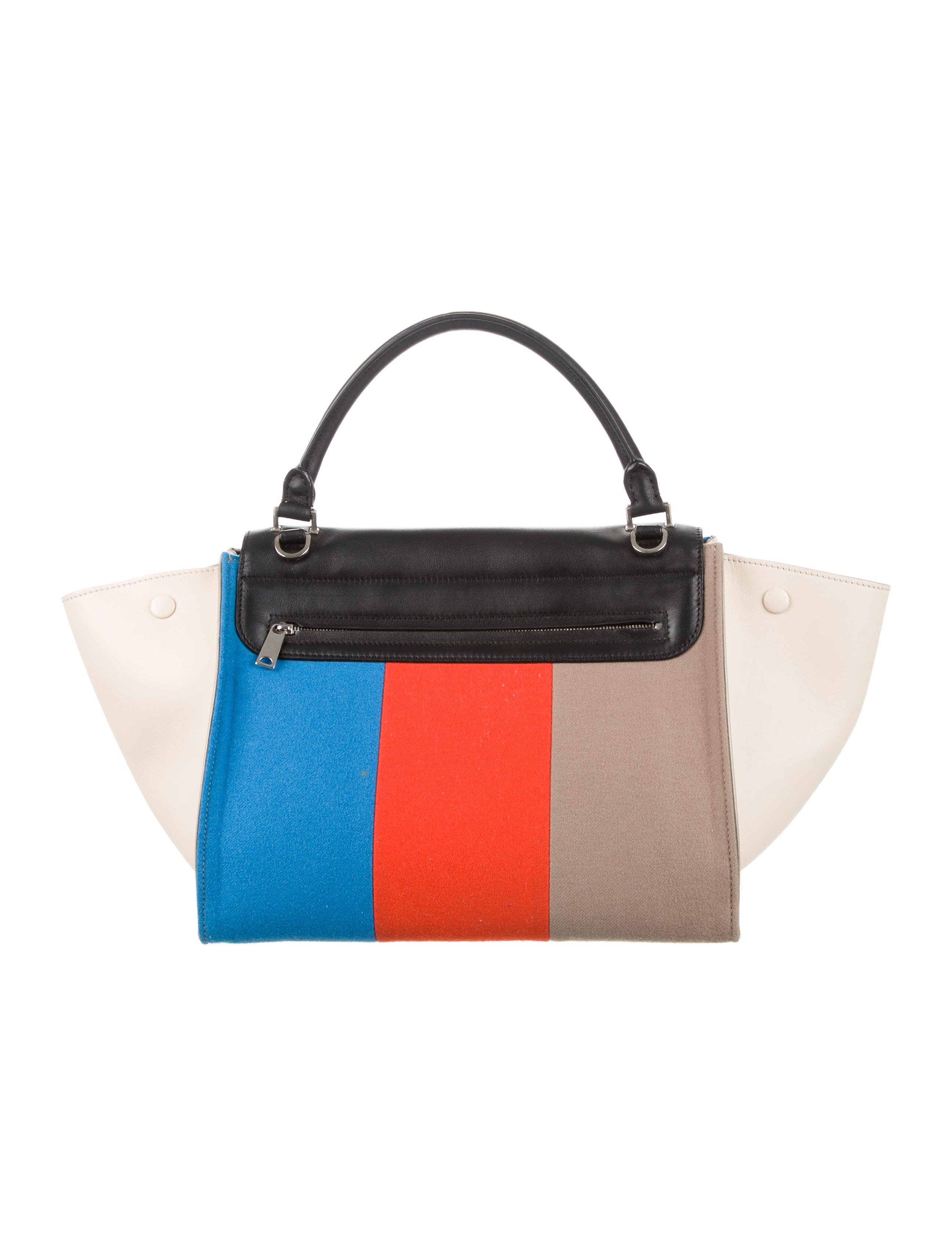 f064f0313035 Céline Colorblock Medium Trapeze Bag w  Tags - Handbags - CEL45709 ...