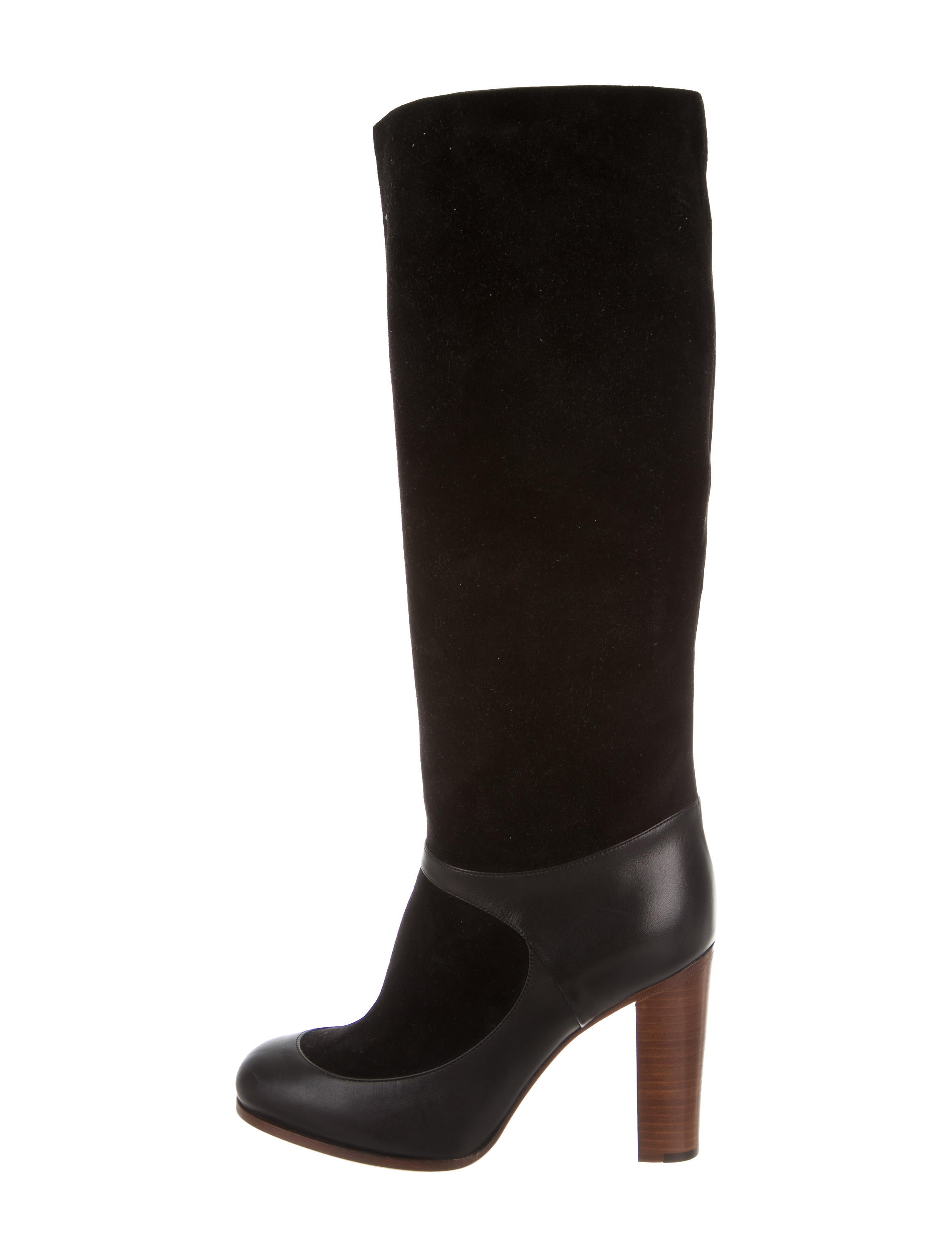 c 233 line suede knee high boots shoes cel46464 the realreal