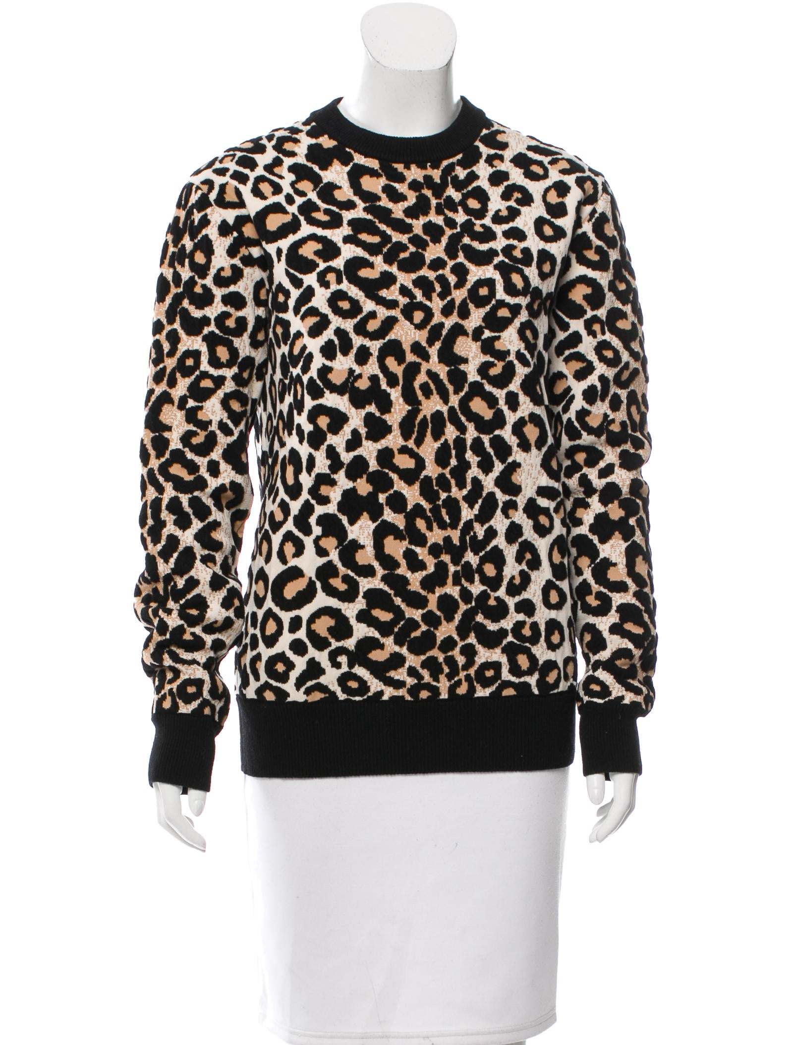 Céline Leopard Jacquard Sweater - Clothing